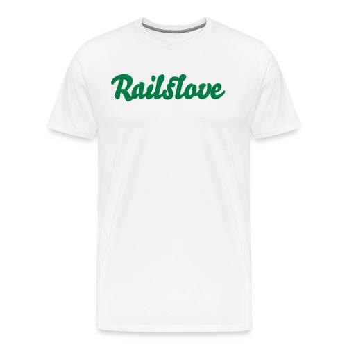 railslove green - Männer Premium T-Shirt
