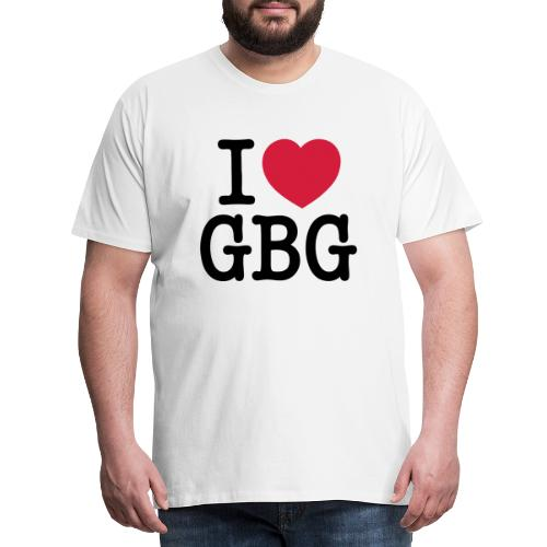 I love GBG - Premium-T-shirt herr