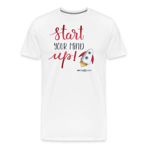 Start your mind up - Maglietta Premium da uomo