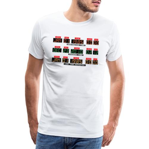 Back To The Future DeLorean Time Travel Console - Men's Premium T-Shirt