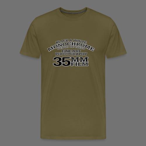 35mm (musta oldstyle) - Miesten premium t-paita
