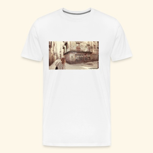 Walking the street - Premium-T-shirt herr