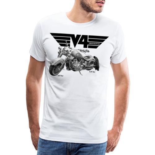 V4 Motorcycles black Wings - Männer Premium T-Shirt