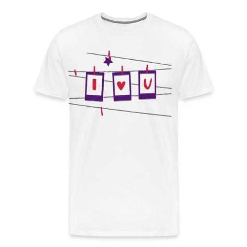 I serce U - Koszulka męska Premium