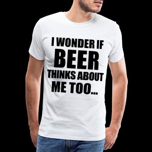Bier Spruch - Männer Premium T-Shirt