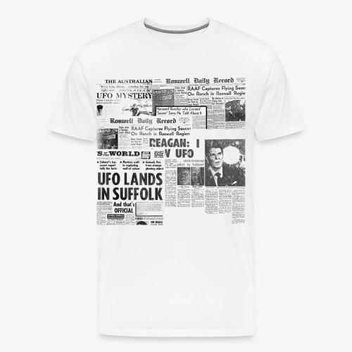 UFO Newspapers - Maglietta Premium da uomo