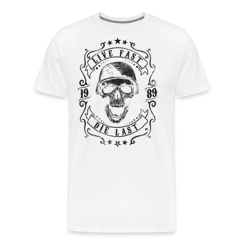 Live Fast Die Last - Black - Men's Premium T-Shirt