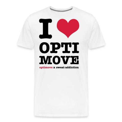 I Love Optimove - Miesten premium t-paita