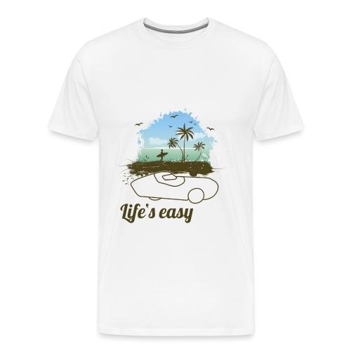 Life's easy Record - Männer Premium T-Shirt