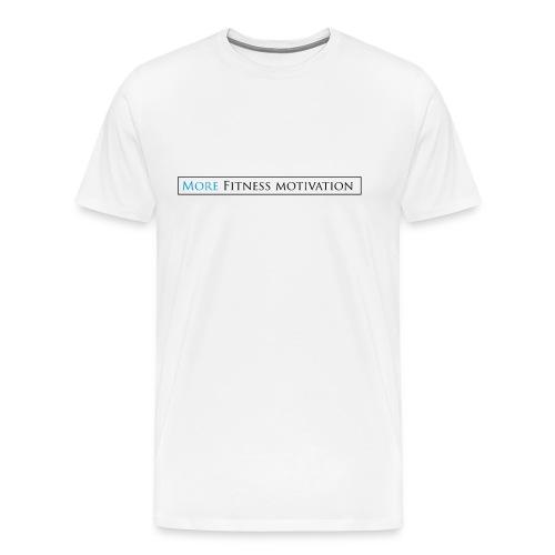 Female More fitness Motivation white/pink - Men's Premium T-Shirt
