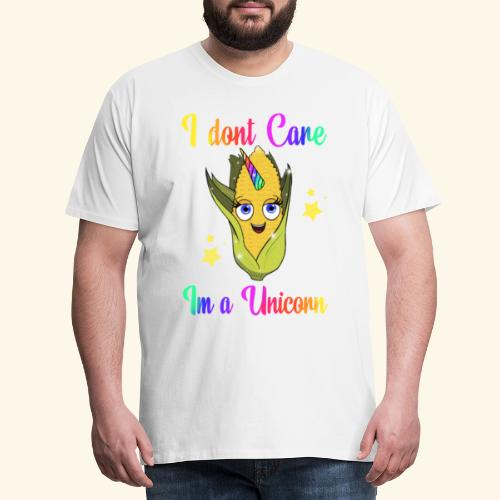 I. Dont care,im a unicorn - Herre premium T-shirt