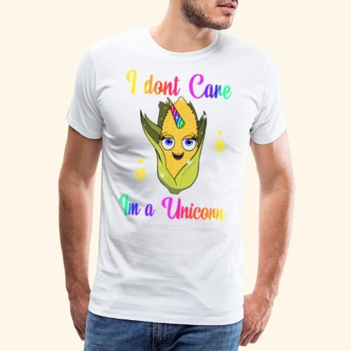 I. Dont care,im a unicorn - Herre premium T-shirt