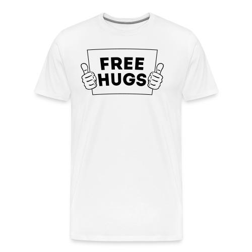 FREE HUGS! Daumen Hoch / Like Schild 1C - Männer Premium T-Shirt