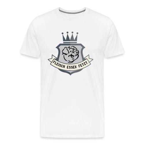 Fleisch essen fetzt - Männer Premium T-Shirt