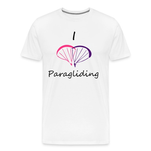 I Love Paragliding V2 - Men's Premium T-Shirt