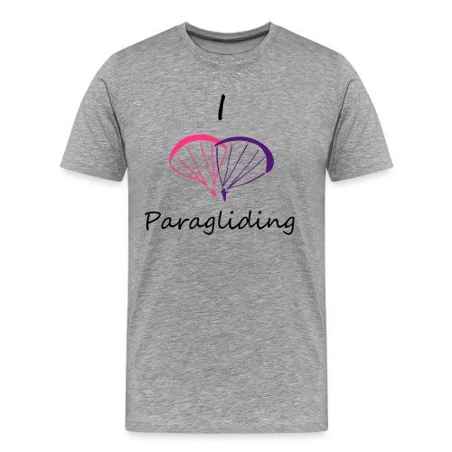 I Love Paragliding V2 - Men's Premium T-Shirt