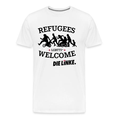 Refugees welcome kleiner - Männer Premium T-Shirt