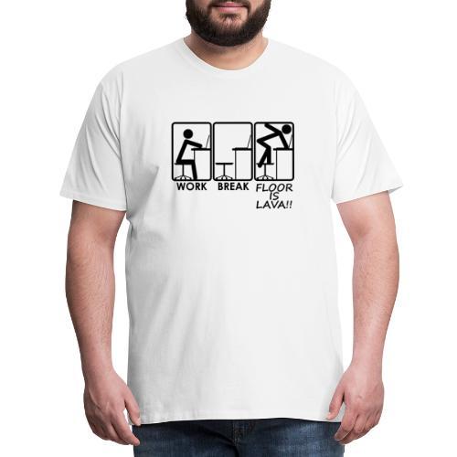 Floor is Lava!! by Querverstand - Männer Premium T-Shirt