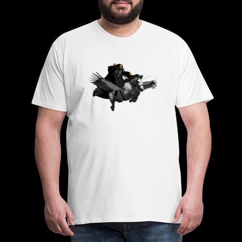 PC39 Ghost and winged unicorn - Camiseta premium hombre