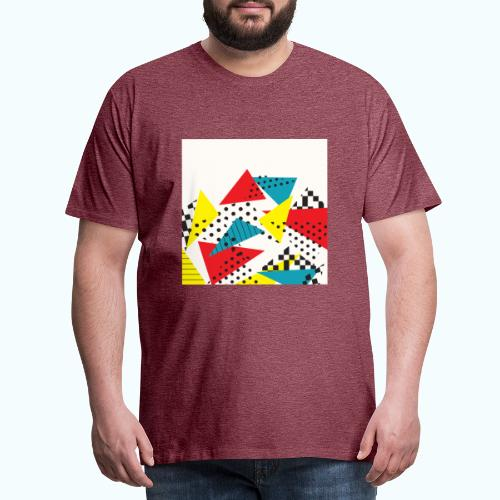 Abstract vintage collage - Men's Premium T-Shirt