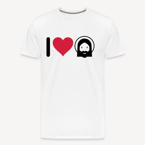 I LOVE JESUS - Men's Premium T-Shirt
