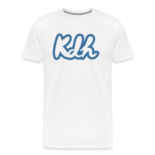 kdh Writing Logo - Men's Premium T-Shirt