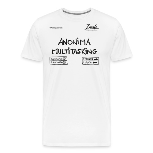 Anonima Multitasking (Nero) - Maglietta Premium da uomo