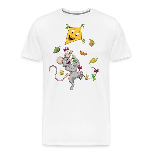 Maus mit Drachen im Herbst - Männer Premium T-Shirt