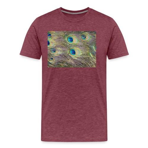 Peacock feathers - Miesten premium t-paita