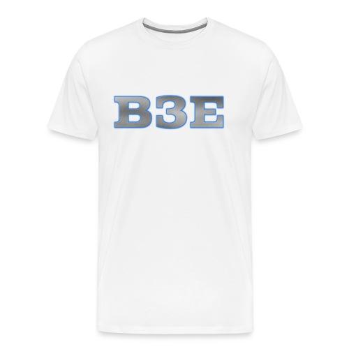 B3E: Logo - GlowingSteel - Men's Premium T-Shirt
