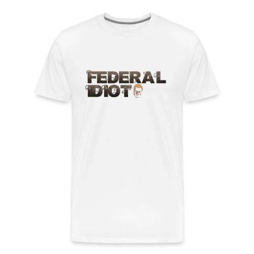 fed idiot png - Men's Premium T-Shirt
