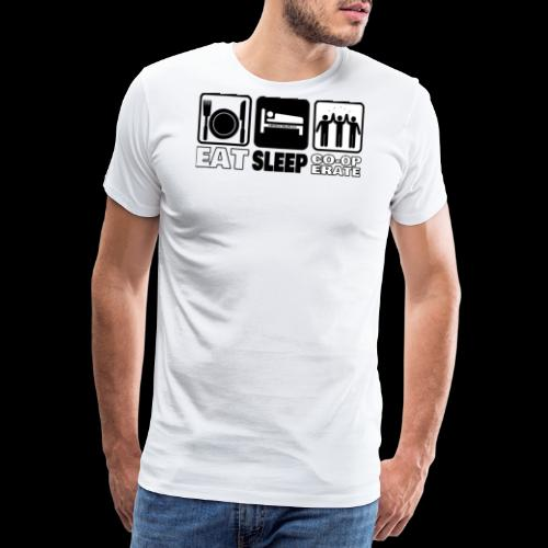 Eat Sleep Co op png - Men's Premium T-Shirt