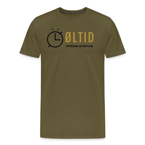 øltid side svart png - Premium T-skjorte for menn