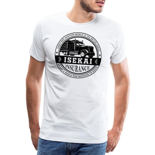 Funny Anime Shirt Isekai insurance Co. - Black - Mannen Premium T-shirt