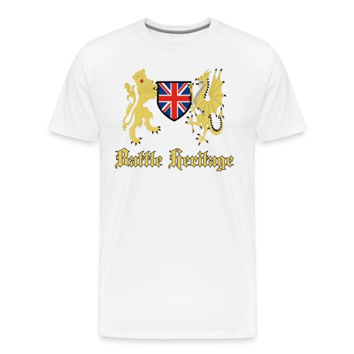 DragonLion_TextGold - Men's Premium T-Shirt