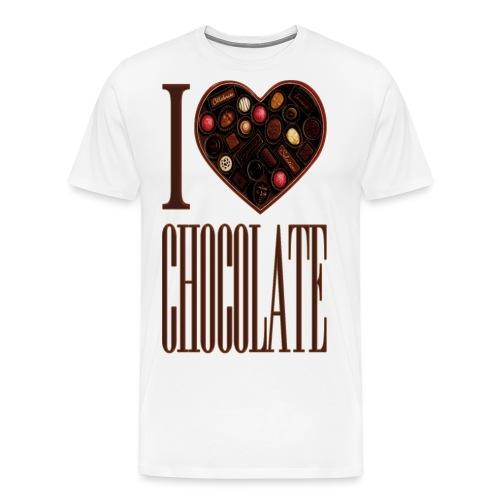I love chocolate - Men's Premium T-Shirt