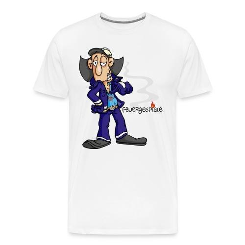 Feuergespiele Text schwarz - Männer Premium T-Shirt