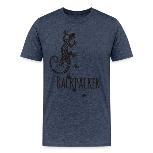 Backpacker - Running Ethno Gecko 1 - Männer Premium T-Shirt