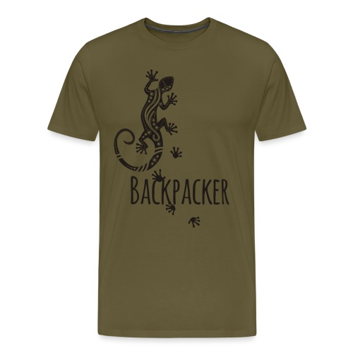 Backpacker - Running Ethno Gecko 1 - Männer Premium T-Shirt