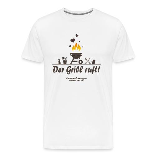 Der Grill ruft - Grillshirt - Männer Premium T-Shirt