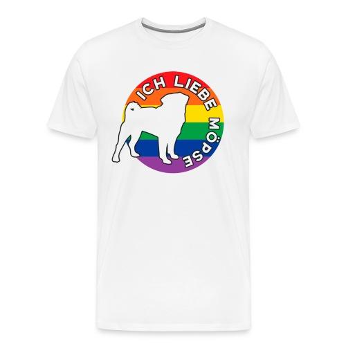 Hundeliebhaber Möpse LGBT - Männer Premium T-Shirt