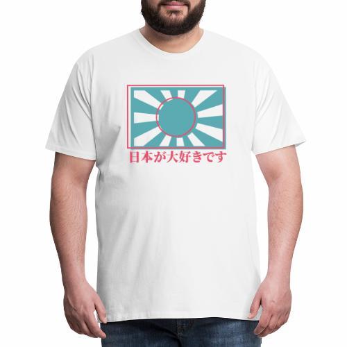 Rising sun I love Japan - Men's Premium T-Shirt