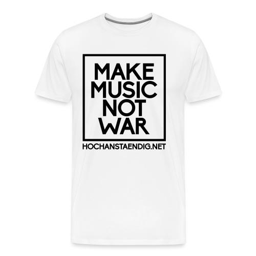 MakeMusicNotWar - Männer Premium T-Shirt