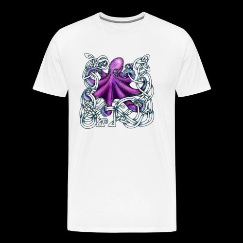 Celtic Octopus - Purple - Men's Premium T-Shirt