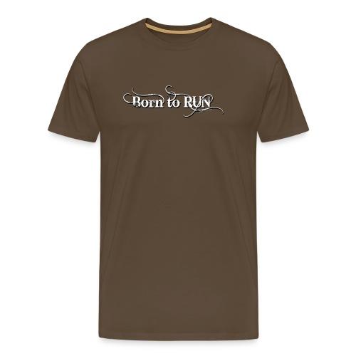 Born-to-RUN---Logo---White.png - Männer Premium T-Shirt