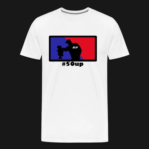 Blue Red b png - Männer Premium T-Shirt