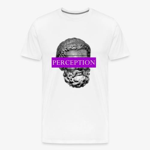 TETE GRECQ PURPLE - PERCEPTION CLOTHING - T-shirt Premium Homme