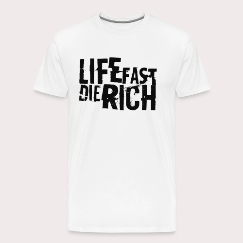lfdrblackgrunge png - Männer Premium T-Shirt