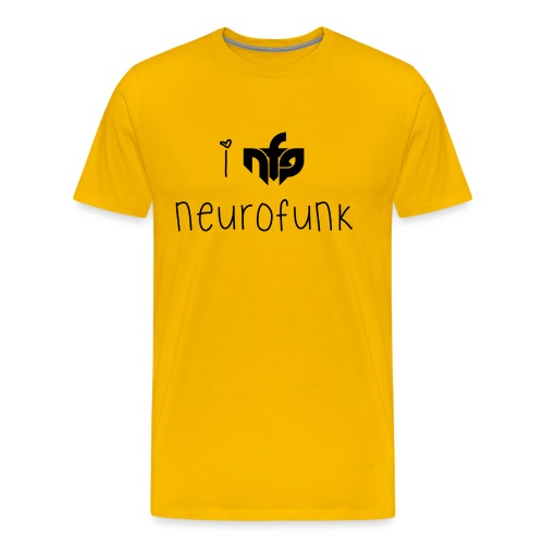 I love neurofunk black - Men's Premium T-Shirt