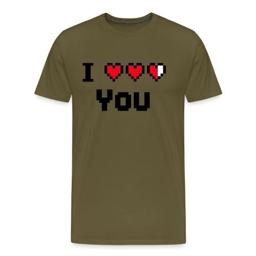 I pixelhearts you - Mannen Premium T-shirt
